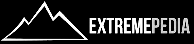 Black and white extremepedia logo